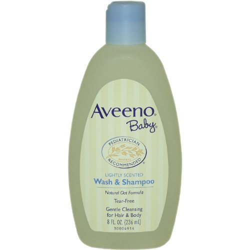 Aveeno Baby Wash & Shampoo, Lightly Scented, 8 Ounce (Pack Of 2) Style: Lightly Scented Wash& Shampoo Size: Pack Of 2 Newborn, Kid, Child, Childern, Infant, Baby front-543282