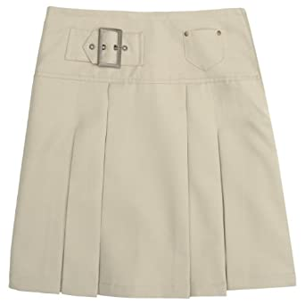 French Toast School Uniforms Front Pleated Coin Pocket Skirt Girls Khaki 4