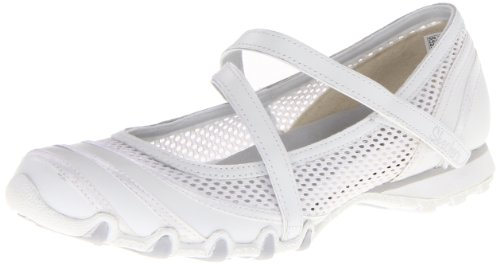 Skechers Women's Bikers Proposal Ballerina, White, UK 3