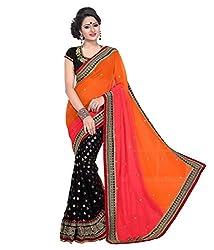 Shree fashion women's Top Fabrics semi stitched multi PADDING saree