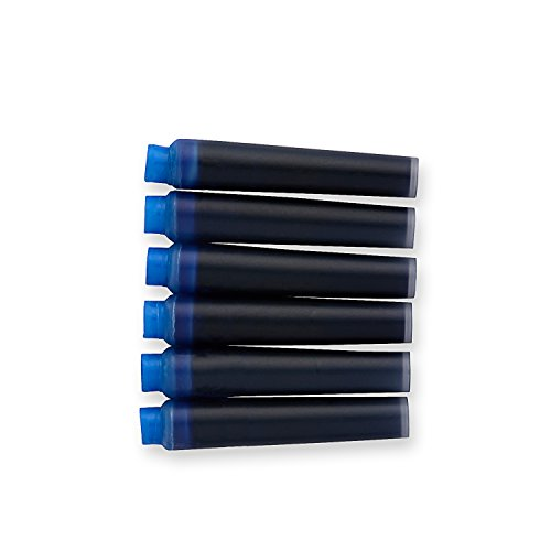 Parker Mini Quink Recharge pour stylo à plume-encre permanente, Photocopieur 6 recharges d'encre bleue (1741300)
