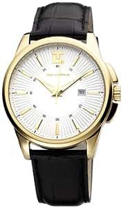 Ted Lapidus - 5112302 - Montre Homme - Quartz Analogique - Cadran Blanc - Bracelet Cuir Noir