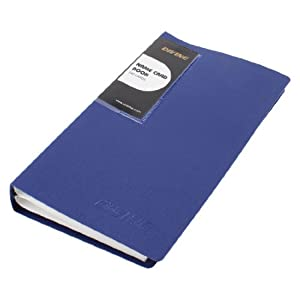 Amazoncom blue plastic cover 240 sheets capacity for Business card holder sheets