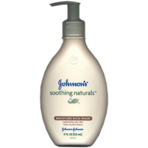 Johnson'S Soothing Naturals Moisture Rich Wash, Pump Bottle 11 Oz front-1006942