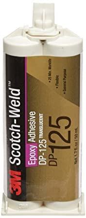 3M Scotch-Weld Epoxy Adhesive DP125 Translucent, 1.7 fl oz (Case of 12)