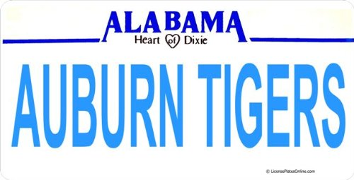 AL Auburn Tigers Photo License Plate at Amazon.com