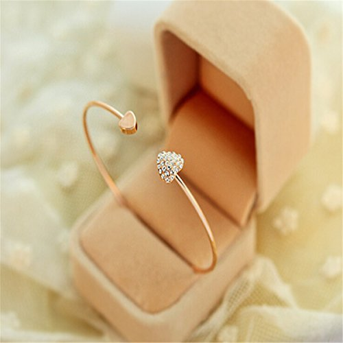 Asurname Women Girl Simple Style Gold Tone Rhinestone