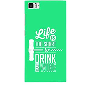 Skin4gadgets Awesome Wine & Dine Quotes, Pattern 33, Color - Orange Phone Skin for MI 3