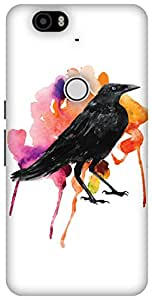 The Racoon Lean The Crow's Colours hard plastic printed back case / cover for Huawei Nexus 6P