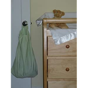 Image: Knickernappies Doorknob Diaper Pail - Sometimes there's just not enough space for a plastic diaper pail. Doorknob Diaper Pails are perfect for nurseries, bathrooms, and traveling.