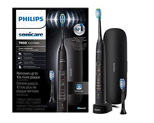 Philips Sonicare ExpertClean 7500 Rechargeable Electric Toothbrush, Black HX9690/05 (Color: Black)