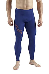 Sub Sports RX Men's Graduated Compression Baselayer Leggings / Tights - Navy Stealth - XS