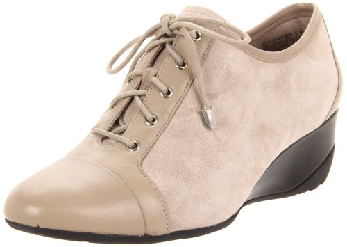 Rockport Women's Trulinda Lace Up Wedge Cobblestone Grey Comfort Lace Ups K61452 6 UK