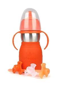 Kid Basix Safe Sippy 2 - Botella infantil con pajita, tapón y asas (330 ml), color naranja por Kid en BebeHogar.com