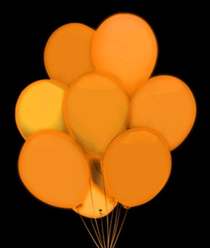 Fun Central AH945 LED Light Up 14 Inch Blinky Balloons - Orange - 1
