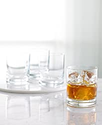 "Martha Stewart Collection ""Waterman"" Double Old-Fashioned Glasses, Set of 4"