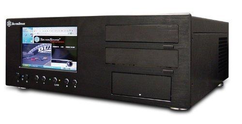 SilverStone LC18B-V64 Aluminum ATX Media Center/HTPC Case - Retail (Black) (Media Center Htpc Case compare prices)