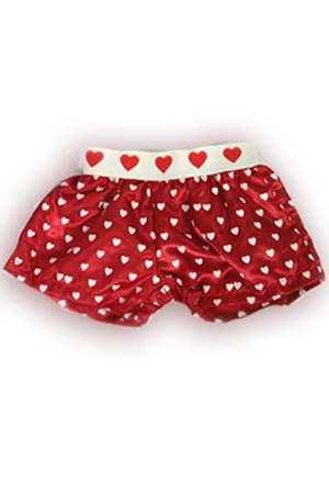"Satin Heart Boxer Shorts Teddy Bear Clothes Fit 14"" - 18"" Build-a-bear, Vermont Teddy Bears, and Make Your Own Stuffed Animals"