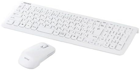 iBUFFALO無線キーボード 2.4GHz メンブレン マウスセット ホワイト BSKBW07WH