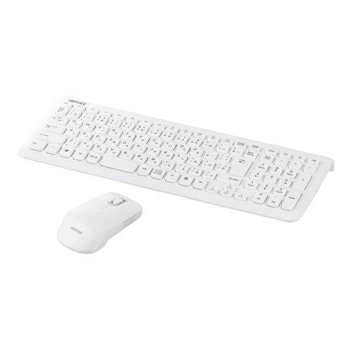 iBUFFALO 無線キーボード 2.4GHz メンブレン マウスセット ホワイト BSKBW07WH