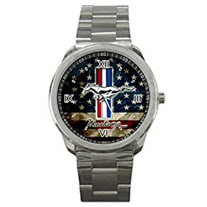Steel XDA001 New Ford Mustang Running Pony Sport Metal Watch: Watches