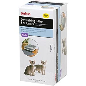 Amazoncom petco unscented drawstring litter box liners for Dog litter box petco