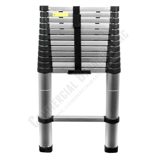 Images for Heavy Duty Telescopic Aluminum Ladder 12.5' Extended 3' Compacted ZT-A13