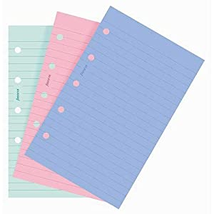 Filofax Mini Ruled Notepaper - Fashion Coloured