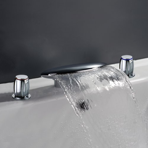 LightInTheBox Two Handles Widespread Waterfall Bathroom Sink Faucet or Bathtub Faucet