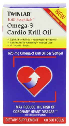 Twinlabs Cardio Krill Oil, 60 Softgels (Zone Labs Omega Fish Oil compare prices)