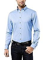 Vincenzo Boretti Camisa Hombre (Azul Claro)