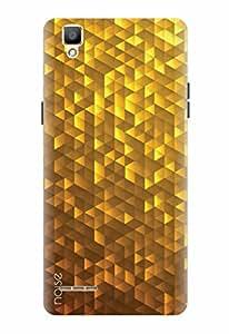 Noise Designer Printed Case / Cover for Oppo F1 / Bling / Golden Abstract Design