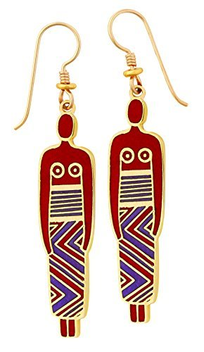 laurel-burch-red-and-purple-chinese-women-drop-earrings-in-gold