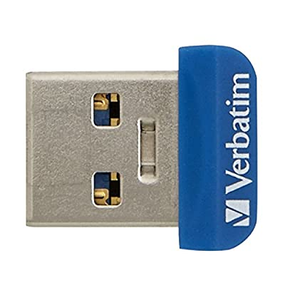 Verbatim 32 GB Store 'n' Stay Nano USB 3.0 Flash Drive, Blue 98710
