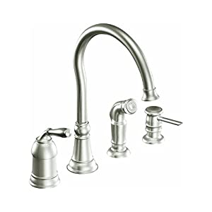 Moen CA SRS Lindley Kitchen Faucet Stainless Touch