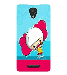 PrintVisa Cute Cartoon Girl 3D Hard Polycarbonate Designer Back Case Cover for Xiaomi Redmi Note 2