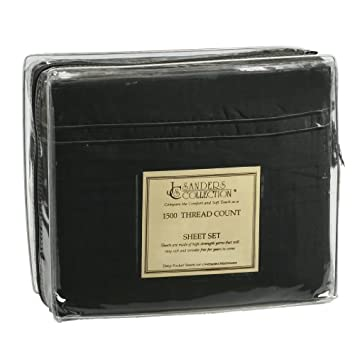 1500 Series Split King Microfiber Bed sheet set Black