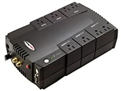 Cyberpower CP685AVR UPS - 685VA/390W AVR 8-Outlet RJ11/RJ45 Compact Design EMI/RFI USB