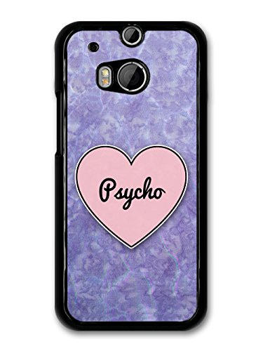 Psycho Heart in Lilac Grunge Hipster Background custodia per HTC One M8