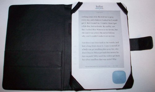 DermaPad Kobo eReader Leather Case Folio - Real Leather