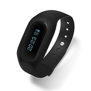 C bay Black Multifunction Pedometer Calorie Sports Bluetooth Smart Bracelet Fitness Band Watch Health Tracker #C20002