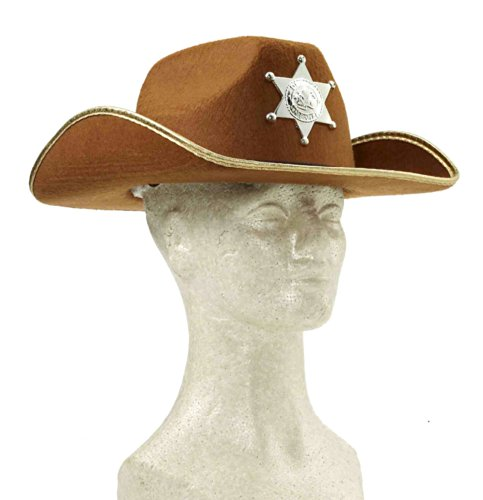 Kids Cowboy Hat with Badge - Child Std.