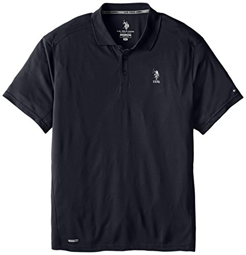 U.S. Polo Assn. Men'S Big-Tall Cage Mesh Vented Performance Polo, Classic Navy, 3X