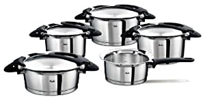 fissler topfset intensa 5 teilig edelstahl kochtopf set kocht pfe induktion gas elektro. Black Bedroom Furniture Sets. Home Design Ideas