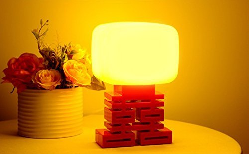 BearsFire® Generous Chinese Double Xi modelling Night Table LED Sound Voice Control...