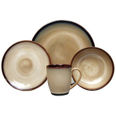 Sango Nova Brown 16-Piece Dinnerware Set, Service