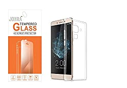 Johra LeEco Le 2 Tempered Glass 9H HD+Real Tempered Glass Screen Scratch Guard Protector With LeEco Le 2 Transparent Back Cover Silicon Soft Jelly Tempered Glass For LeEco Le 2
