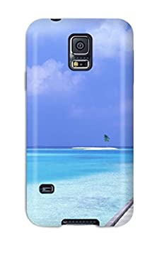 buy New Fashion Premium Tpu Case Cover For Galaxy S5 - Beach Blue Sky