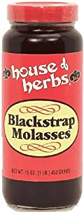 house of herbs blackstrap molasses 16 oz Glass Jar