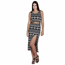 Aztec Print Monochrome Maxi Dress